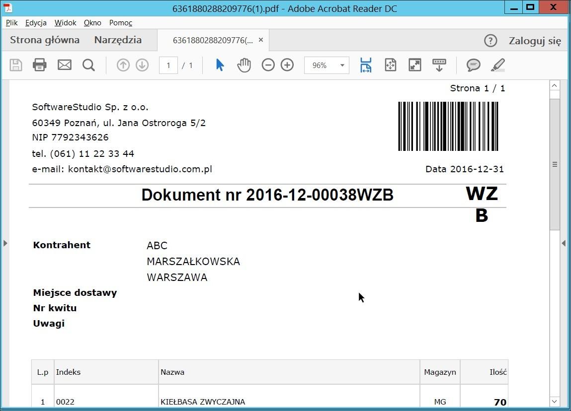 programy do magazynowania - dokument