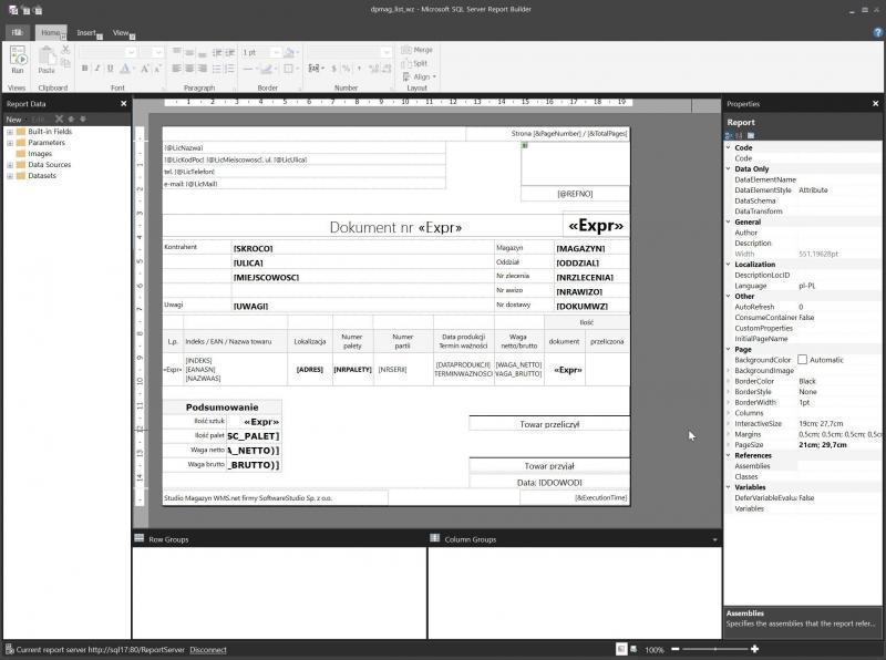 dpmag_list_wz - Microsoft SQL Server Report Builder