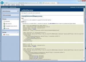pomoc web service metoda CzytajDokumentMagazynowy