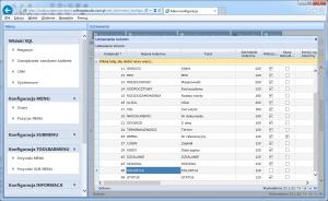 widok SQL edycja kolumny KOLORTLA