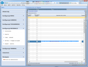 konfiguracja informacji combo jednostka miary 2