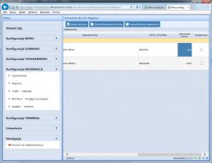 konfiguracja informacji insert update szeorkość formularza