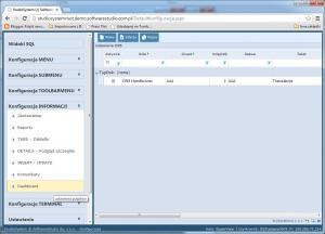 konfiguracja dashboard