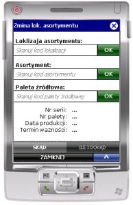 Okno tansakcji ESM_ZL_A