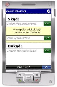 Okno transakcji ESM_ZL_P