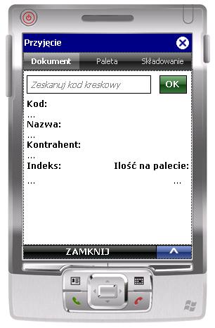 Okno 1 transakcji WMS_PZ