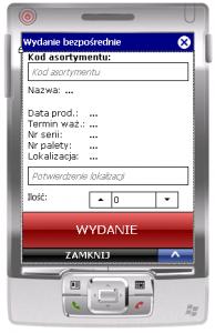 Okno transakcji WMS_WZB