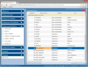 y_insert_update pasek przycisków konfiguracja