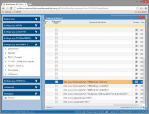 y_insert_update pasek przycisków konfiguracja uruchom button