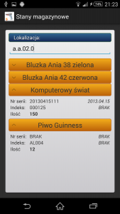 Program Magazynowy Android
