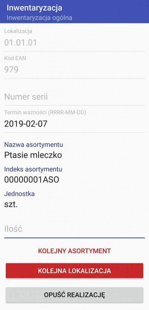 Android WMS inwentaryzacja magazynu 2