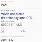 Android WMS przyjęcie bezpośrednie
