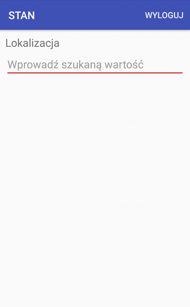 Android WMS stany magazynowe