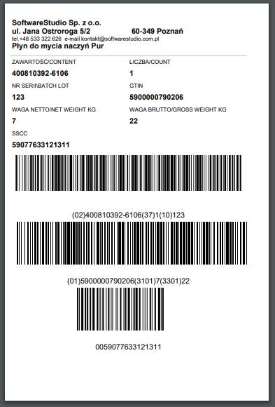 etykieta GS1