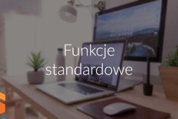 Funkcje standardowe